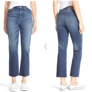 "Madewell 11"" High Riser Crop Flare Jeans"